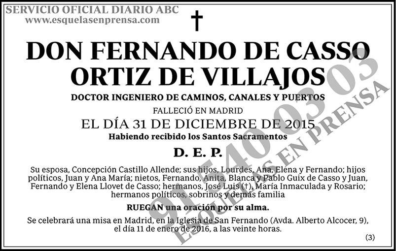 Fernando de Casso Ortiz de Villajos